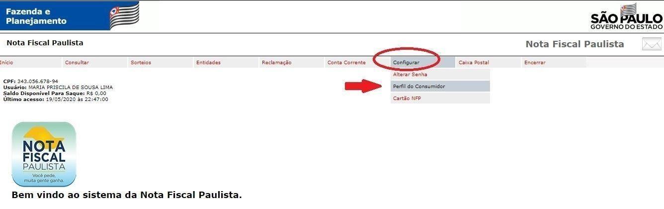 Como Atualizar Cadastro no Nota Fiscal Paulista